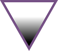 The AVEN triangle is an equilateral triangle pointing downwards, with a white to black gradient.